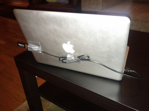 USB cable laptop duct tape funny there I fixed it - 7799101952