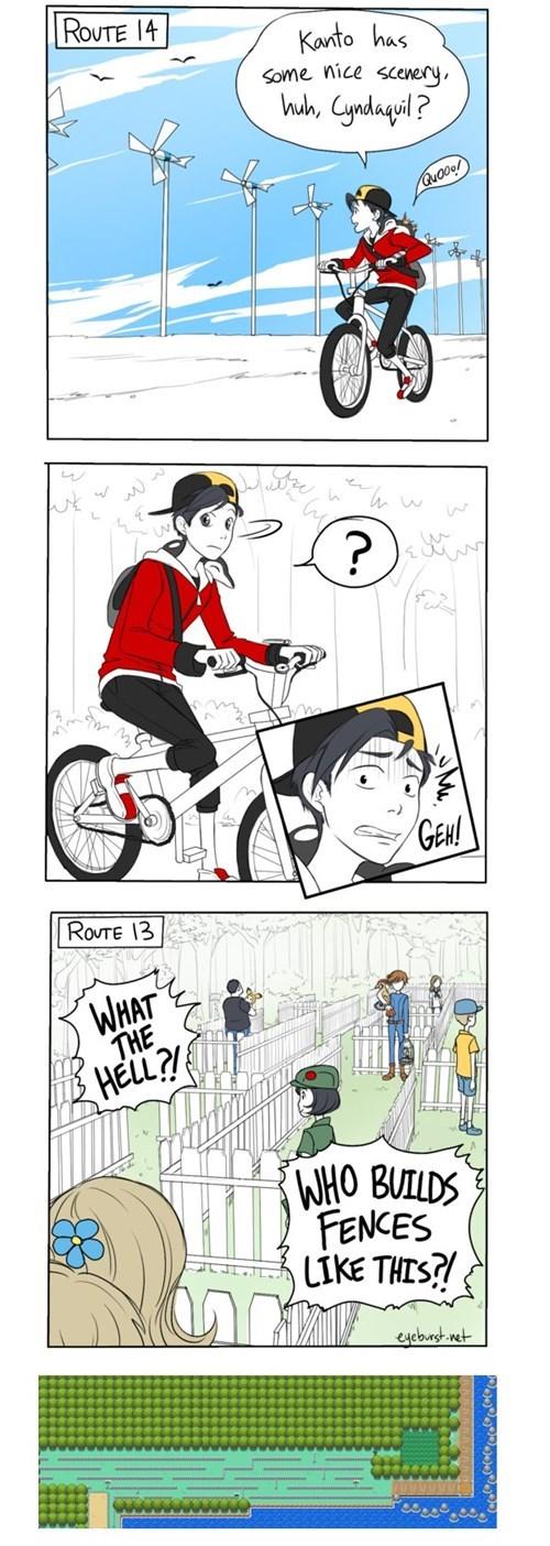 Pokémon comics fences route 13 - 7799170304