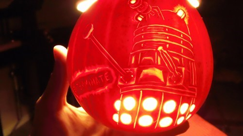 daleks,jack o lanterns,doctor who,pumpkins
