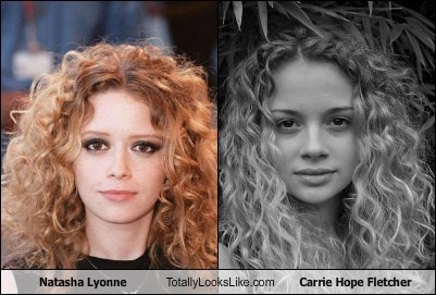 nathasha lyonne,totally looks like,carrie hope fletcher,funny