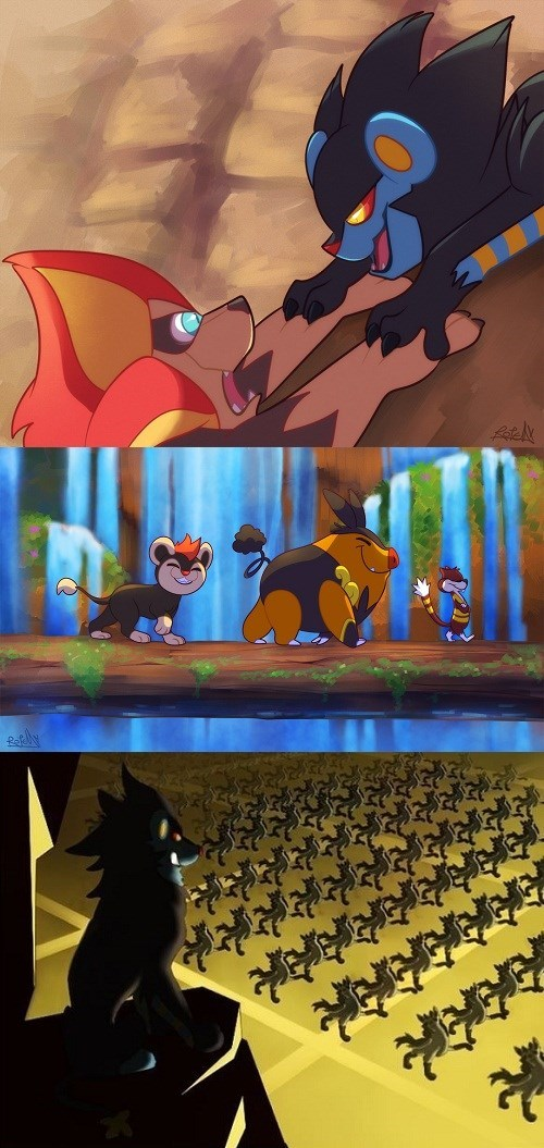 Pokémon art the lion king - 7799789056