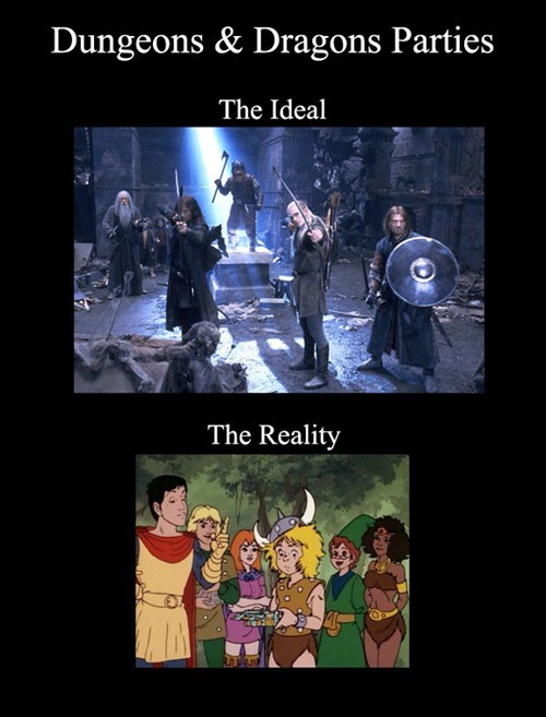 tabletop games,expectations vs reality,d&d,d&d
