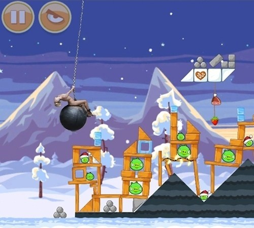 angry birds miley cyrus wrecking ball - 7800396800