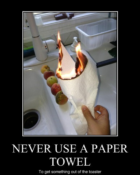 NEVER USE A PAPER TOWEL