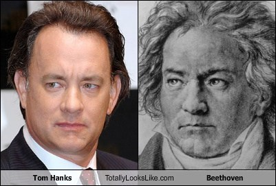 Beethoven tom hanks totally looks like funny