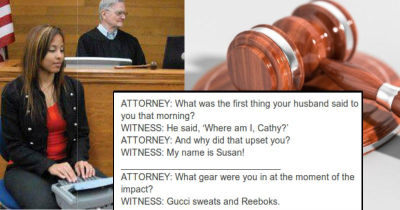 court reporters hearing weird cases