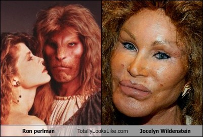 Ron Perlman,Jocelyn Wildenstein,totally looks like,funny