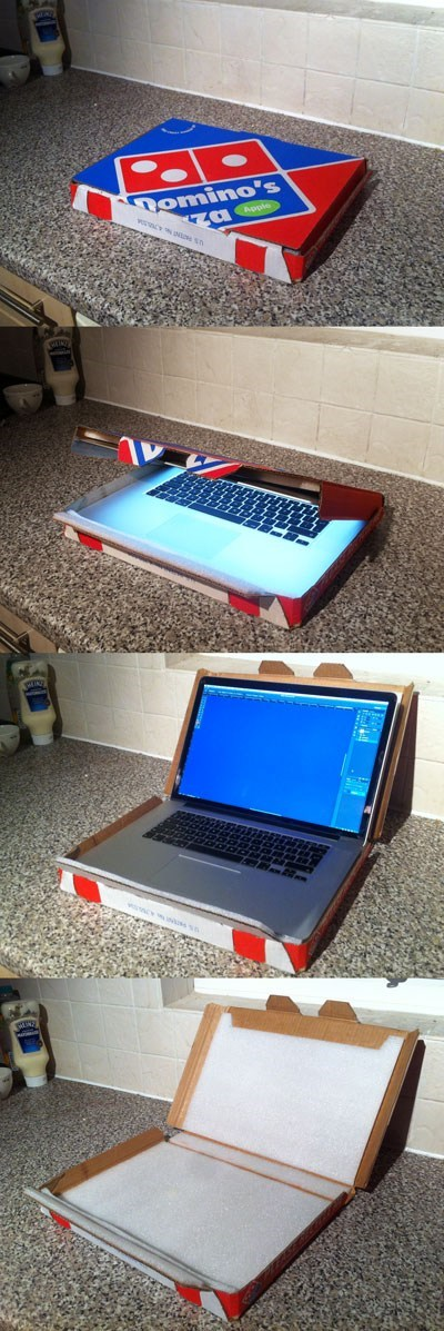 pizza box laptop case funny there I fixed it - 7801059328