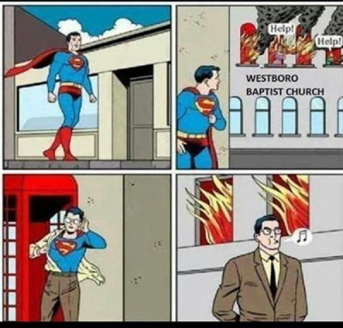 Westboro Baptist Church superman - 7801063424