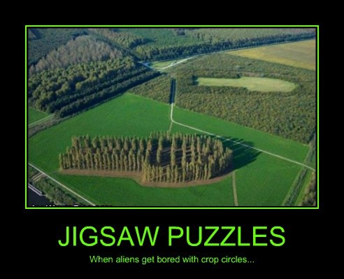 Aliens puzzle jigsaw funny - 7801166336
