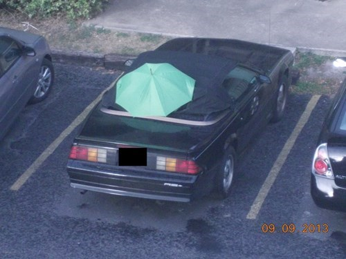 convertible cars funny there I fixed it umbrella - 7801273088