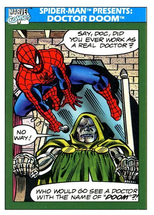 off the page doctor doom Spider-Man - 7801547008