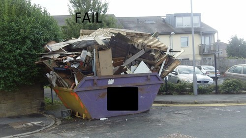 dumpster,FAIL,funny,there I fixed it,g rated