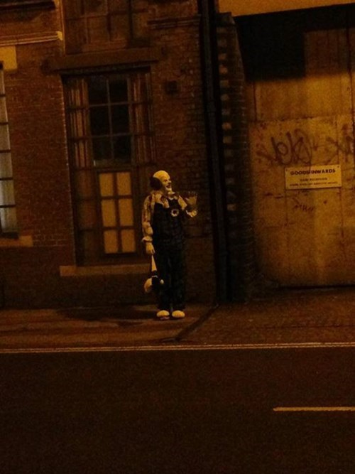 clowns,northampton,clown costume,clown trolling,england,creepy clowns