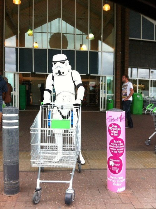 star wars,stormtrooper,shopping,grocery