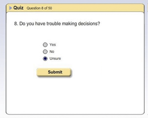 surveys purgatory unsure making decisions ambivalent exam