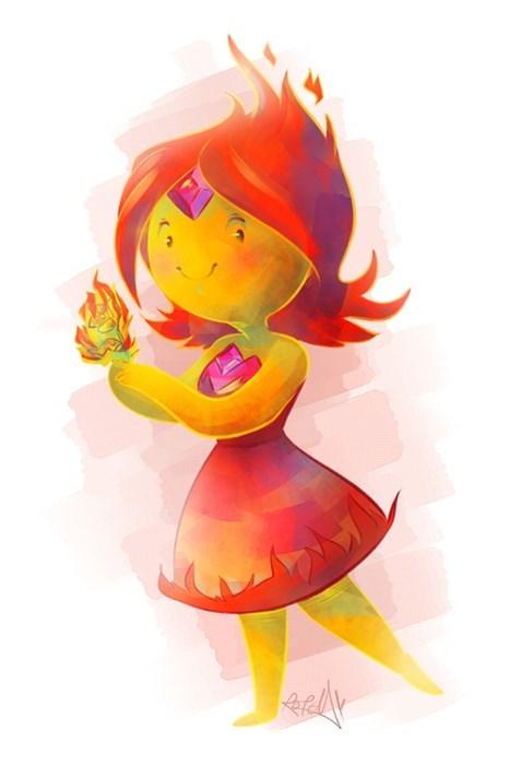 Fan Art flame princess adventure time - 7802233856