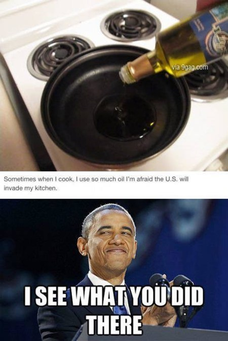 NSA,cooking,obama,oil,funny