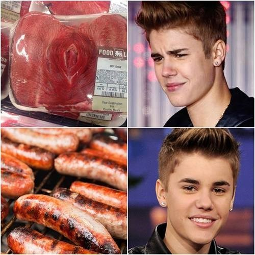 Justin's Got His Eye on The Sausage