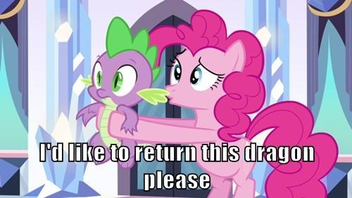 dragon spike pinkie pie - 7802280960