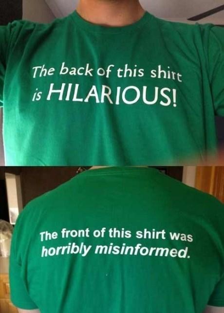 hilarious shirts misinformed - 7802294016