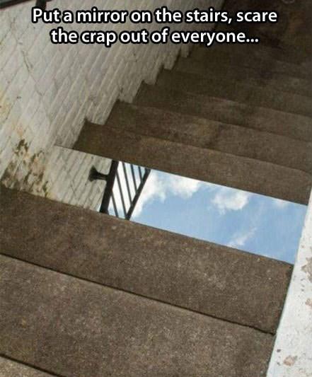 the matrix mirrors stairs - 7802302464