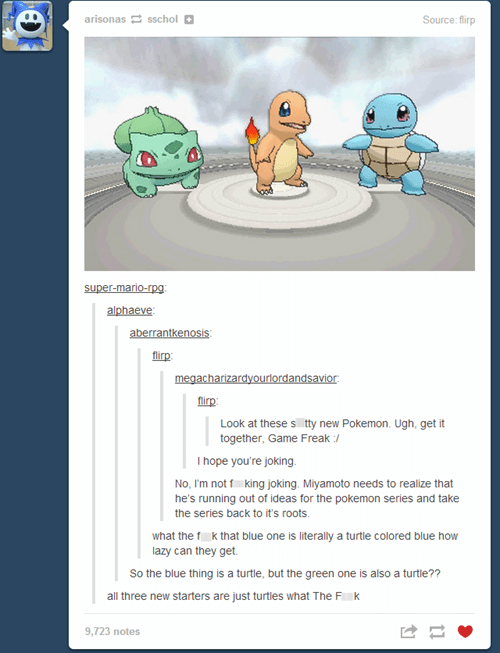 Pokémon tumblr starters thanks obama - 7802462720