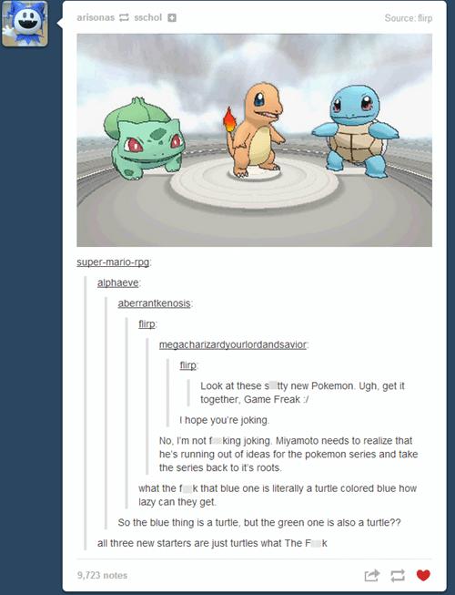 Pokémon tumblr starters - 7802462720