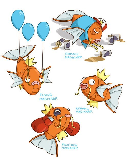 art,magikarp,pokemon types