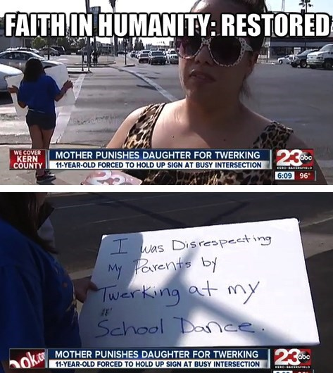 faith in humanity restored,twerking,parenting