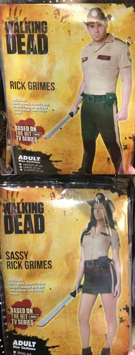 halloween costume Why God Why sassy sexy The Walking Dead ghoulish geeks - 7802557184