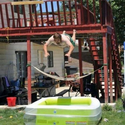 ouch belly flop kiddie pool funny - 7802583296