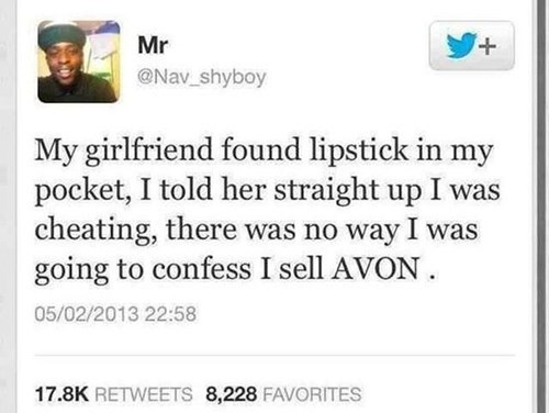avon,lipstick,girlfriend,tweet,funny,dating
