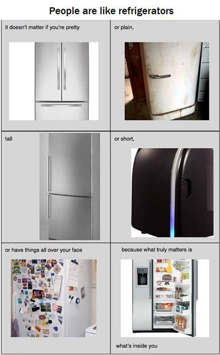 inner beauty,fridge,funny