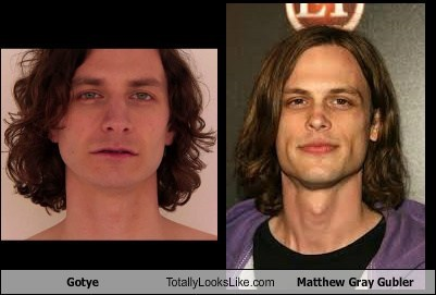 totally looks like gotye matthew gray gubler funny