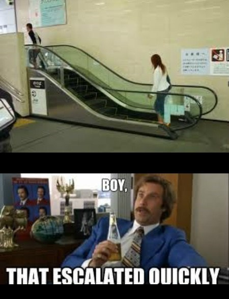 Ron Burgundy,funny,boy that escalated quickly