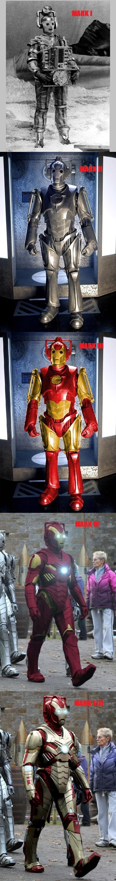 cybermen doctor who iron man - 7802649856