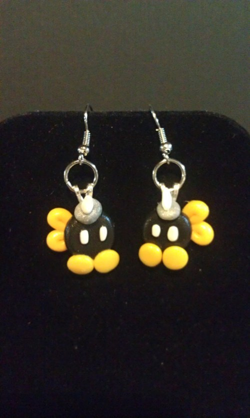 earrings for sale video games Super Mario bros - 7803313408
