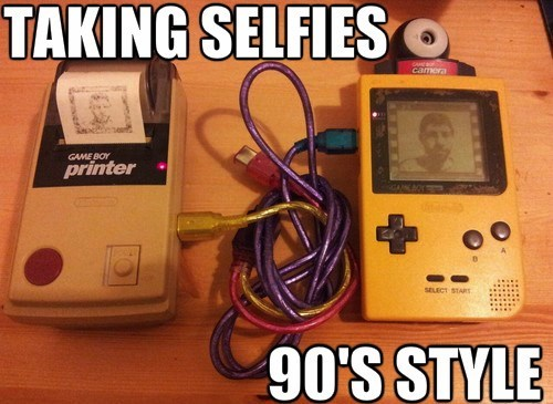 selfie,game boy,Game Boy Printer