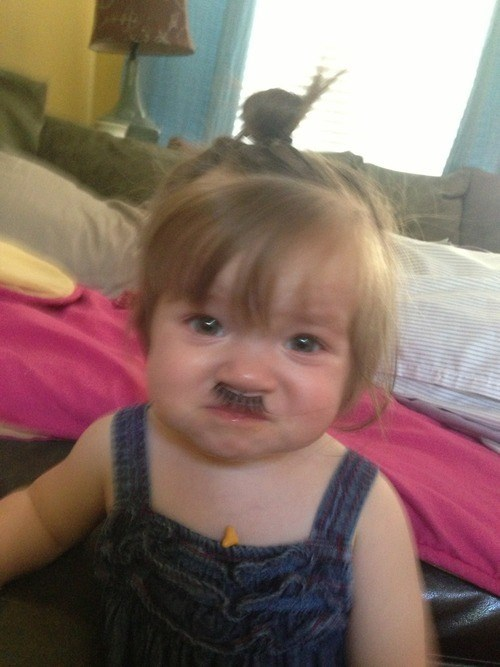 mustache,kids,parenting,eyelashes