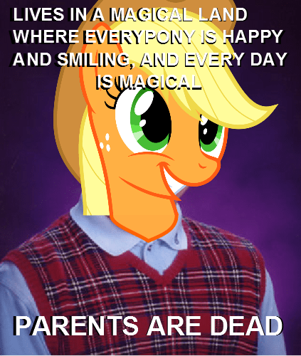 applejack bad luck brian equestria - 7803626496