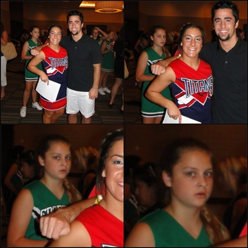 photobomb,funny,cheerleaders