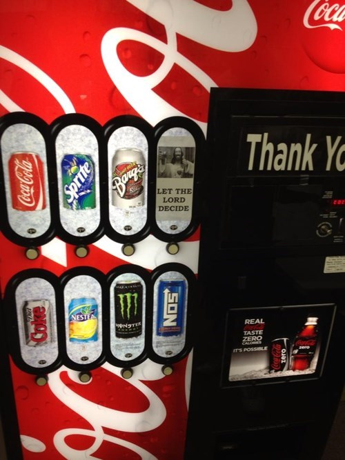 god,vending machines,soda