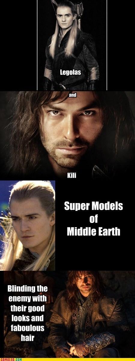 Lord of the Rings legolas kili The Hobbit - 7803834880