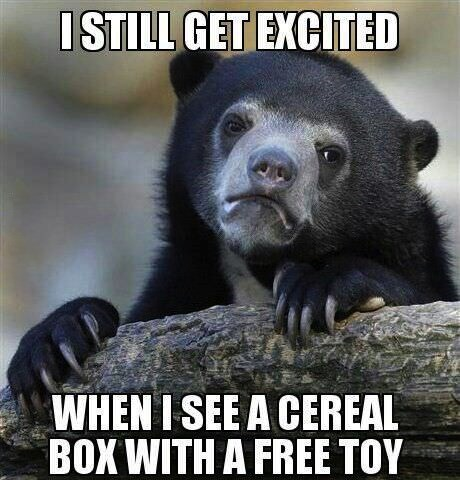 Memes Confession Bear cereal - 7804421632