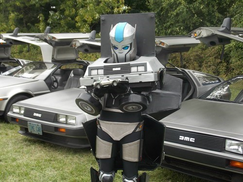 transformers cosplay deloreans - 7804678912