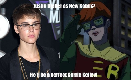 robin,carrie kelley,batman,justin bieber