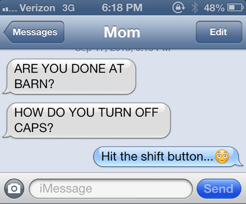 capslock kids text moms parenting funny