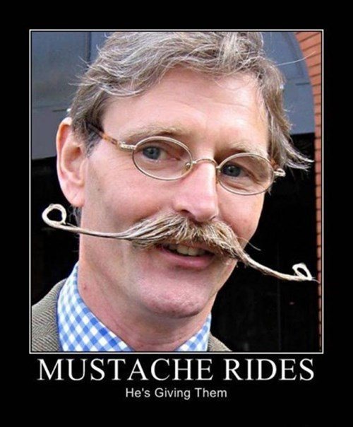 mustache awesome rides funny - 7806663936