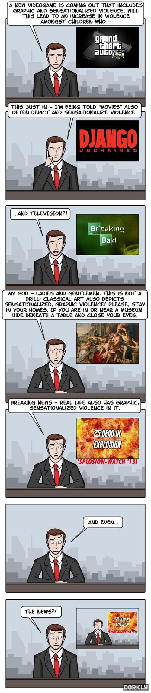 dorkly violence video games web comics - 7806712320